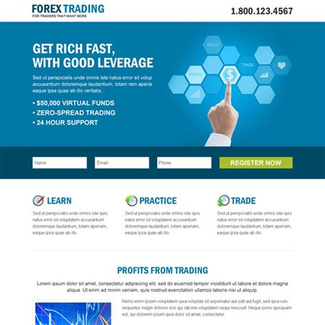 business page design templates forex trading business professional and clean landing page