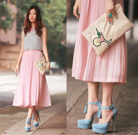 Dress Levina Maxi mayo wo style by marina pastel open waist maxi pree
