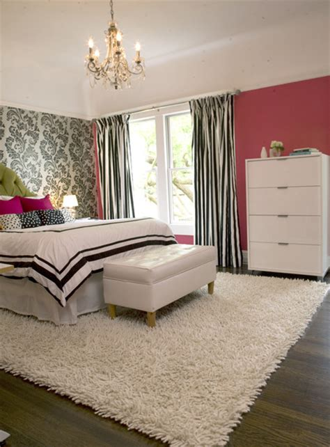 modern girly bedroom eclectic bedroom other metro