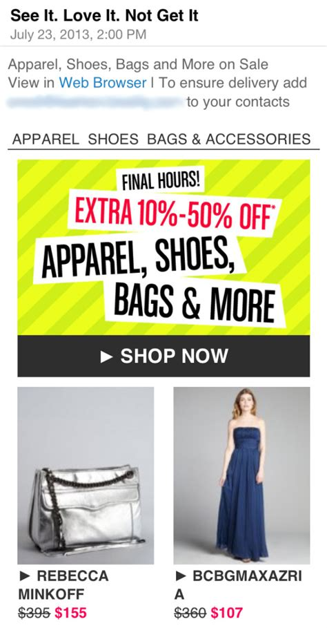 Shopping Take An Additonal 10 At Bluefly Today Only Second City Style Fashion by 11 Reasons To Test Every Email Before You Send