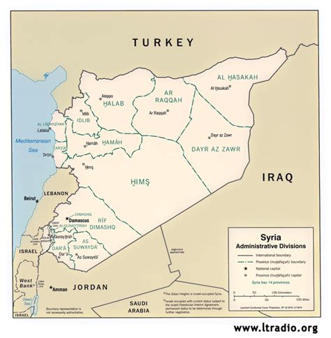 syria middle east map maps and charts