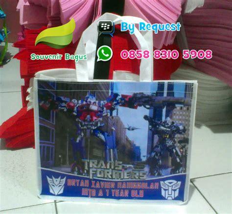 tas ultah jinjing transformer tas ulang tahun transformer goodie bag murah