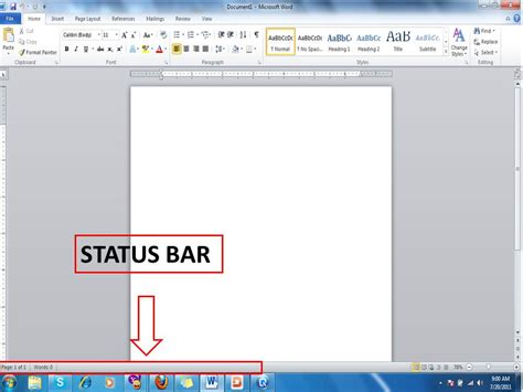 layout guide status bar sir sherwin s computer tutorial operating a word