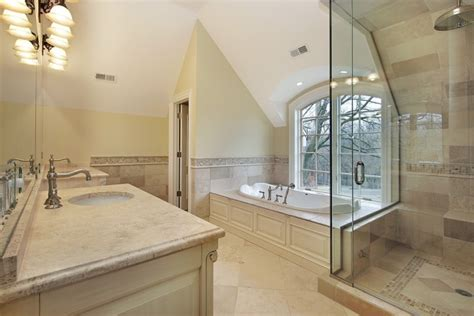 gorgeous bathroom designs  vaulted ceiling