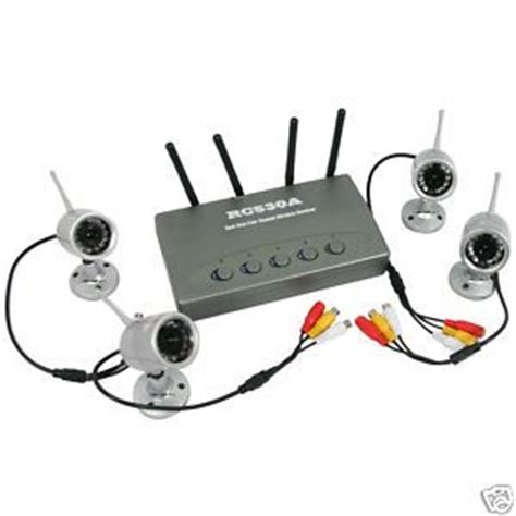 wireless 4ch home cctv security system rc530a