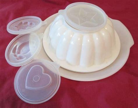 tupperware jello mold form tree flower serving tray plate vtg gelatin trees flower