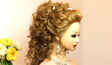 wedding hairstyles curly hair curly wedding hairstyle for hair tutorial