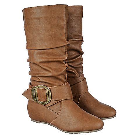 shiekh candies 76a s cognac mid calf boots shiekh