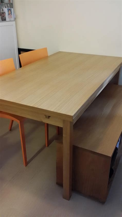 muji extendable dinning table bench secondhand hk