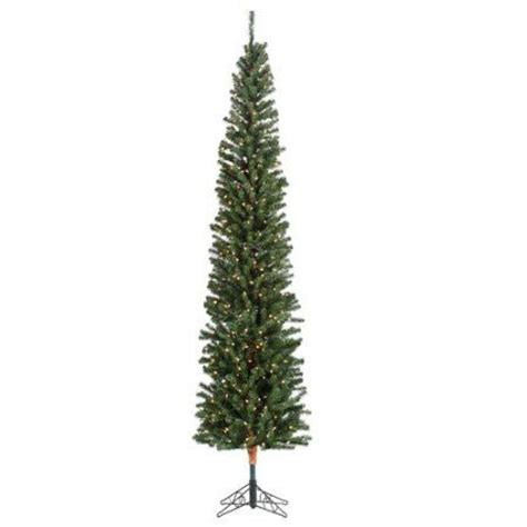 hobby lobby white flocked christmas tree 9 pre lit pencil fir artificial tree with brown trunk clear lights