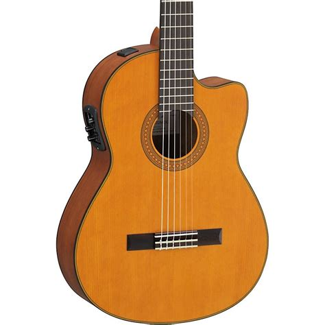 best yamaha classical guitar yamaha cgx122mcc solid cedar top acoustic electric
