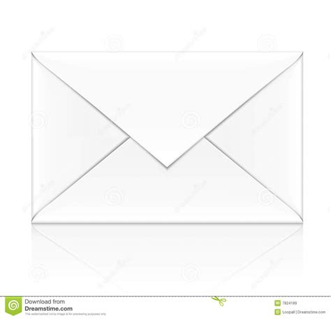 printable envelope vector blank white envelope isolated royalty free stock images