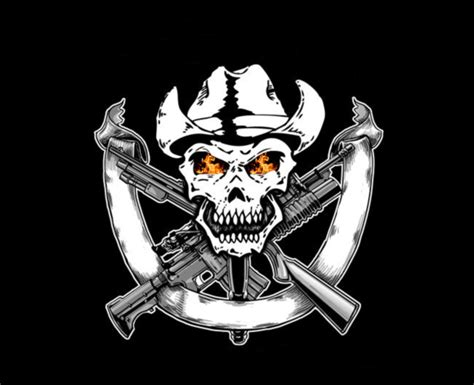 themes ltd real blue handguns skulls and guns wallpaper wallpapersafari
