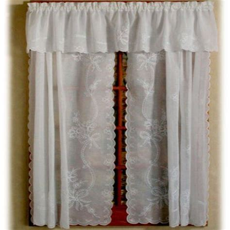 swiss tambour curtains swiss tambour sheer embroidered curtain 80 quot x 36 quot white