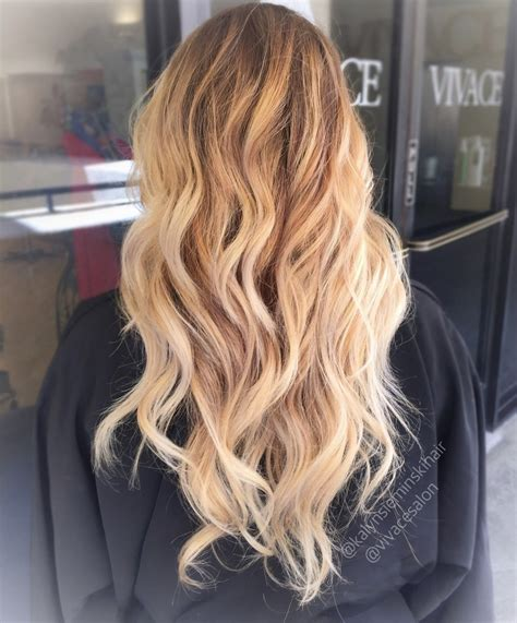 Blonde Highlights On Light Brown Hair Lovely Blonde Long Hair And Bright Tones Vivace Salon