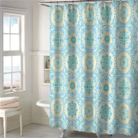 teal colored shower curtains buy teal curtains from bed bath beyond