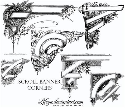design banner photoshop cs5 scroll banner corners photoshop cs5 brushes free
