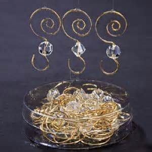decorative ornament hooks clear acrylic w gold wire ornament hooks 24pc
