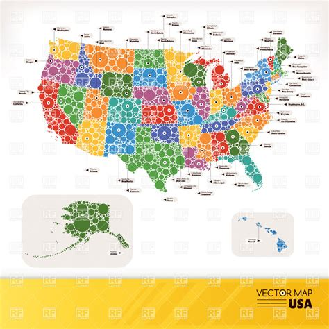 usa map free vector stylized map of usa in infographics style royalty free