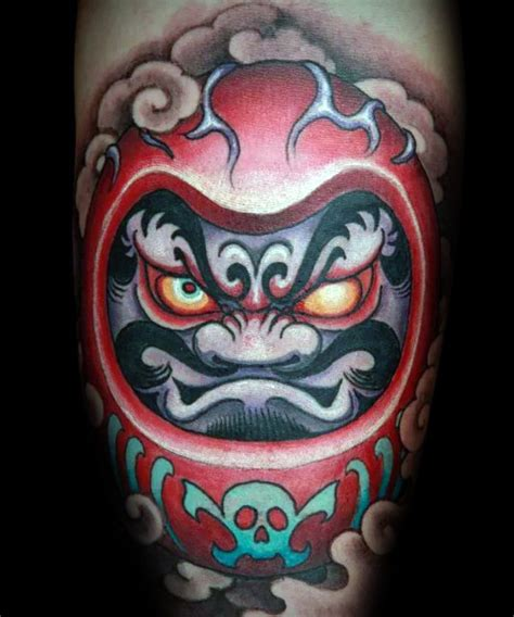 60 daruma doll tattoo designs for men japanese ink ideas