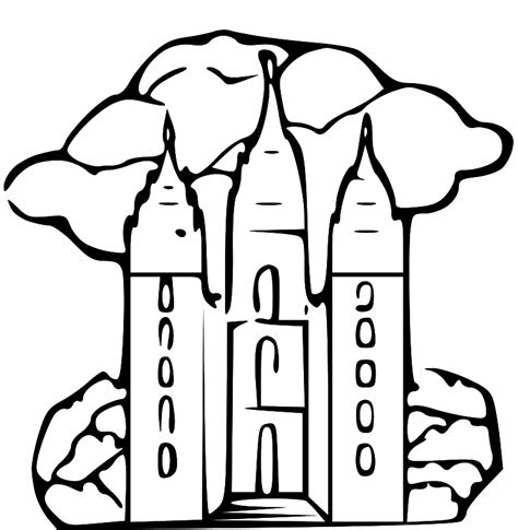 Lds Temple Coloring Pages Az Coloring Pages Salt Lake Temple Coloring Page