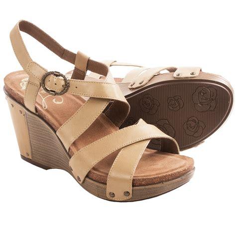 dansko frida wedge sandals for in sand antique
