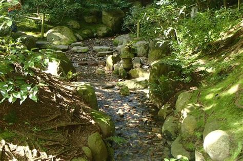 waterfall and stepping stones picture of nitobe memorial garden vancouver tripadvisor