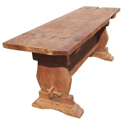 Rustic Mesquite Trestle Console Dining Table For Sale At Mesquite Dining Table