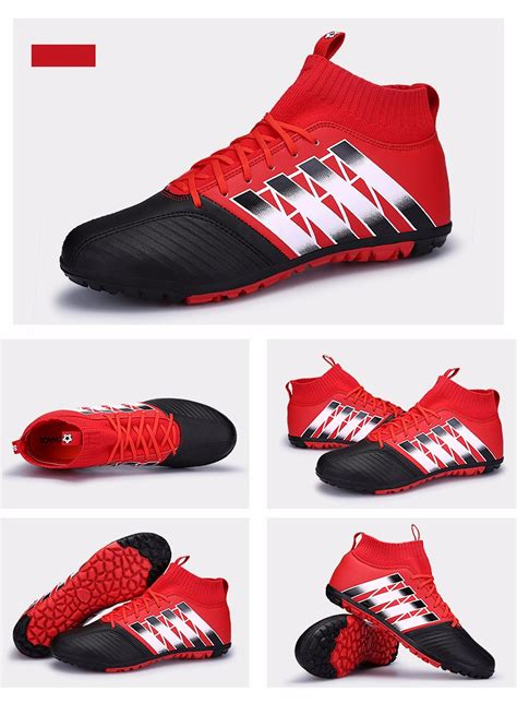 sock boots indoor soccer shoes children futsal indoor tf football boots sock cleats us 1 5 9 5 ebay