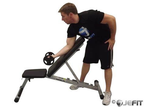incline bench curls dumbbell standing one arm curl over incline bench