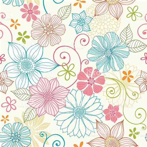 pastel flower pattern wallpaper seamless pastel floral pattern stock vector art 142345473