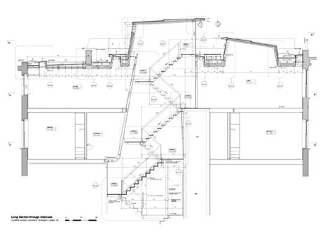 section through staircase apartments earl s court n 237 all mclaughlin architects