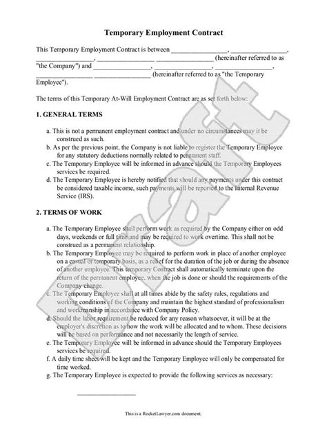 temporary employment contract zero hours job contract
