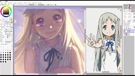 paint tool sai fan made speedpaint paint tool sai 本間 芽衣子 ano hana fan