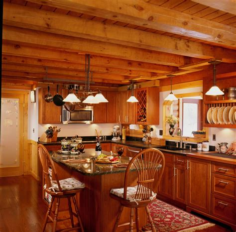 log cabin kitchen ideas 30 cool log cabin interior kitchen rbservis