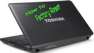 how to reset toshiba satellite laptop to factory settings how to restore reset a toshiba satellite to factory