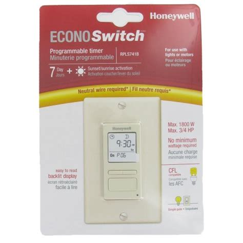 honeywell rpls530a1038 u 7 day programmable light switch timer instructions honeywell econoswitch rpls740b wiring diagram 45 wiring