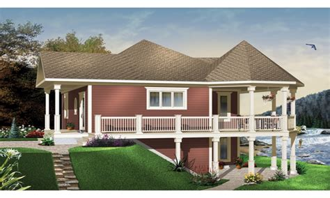 house plans waterfront waterfront house plans with walkout basement mediterranean