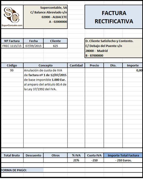 cobro irpf el rinc 243 n del sueko la factura rectificativa del iva