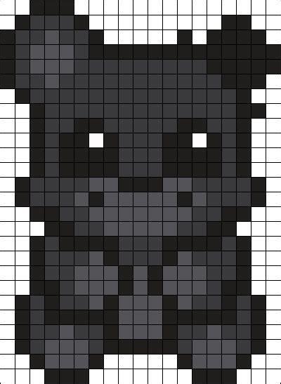 grid pattern on skin shadow freddy perler bead pattern bead sprite pixes