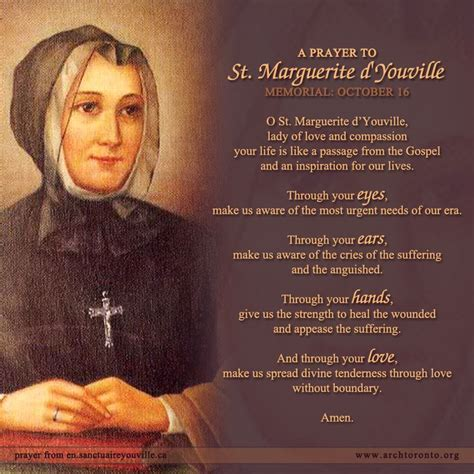 when was st born october 16 is the memorial of st marguerite d youville