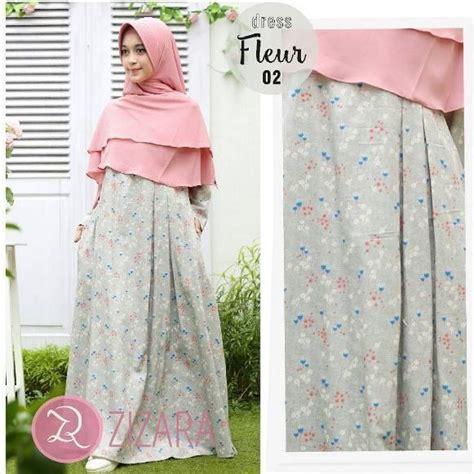 Baju Gamis Zizara gamis zizara fleur dress 02 baju muslim wanita baju