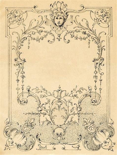 vintage illustration vintage illustrations gorgeous ornate label frame