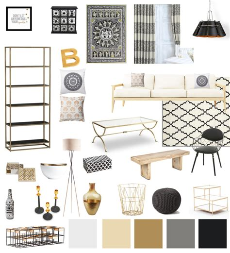 white and gold home decor decor 101 black white and gold living room with tribal