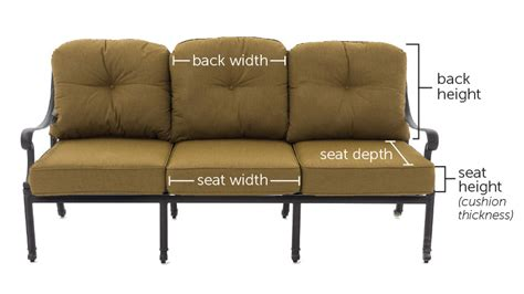 how to measure a sofa replacements cushions for outdoor furniture peenmedia com