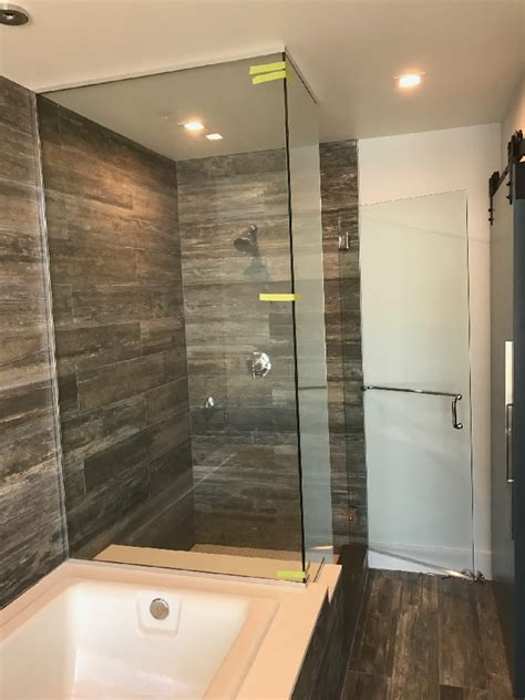 glass enclosed shower chrome u channel glass enclosed shower patriot glass and