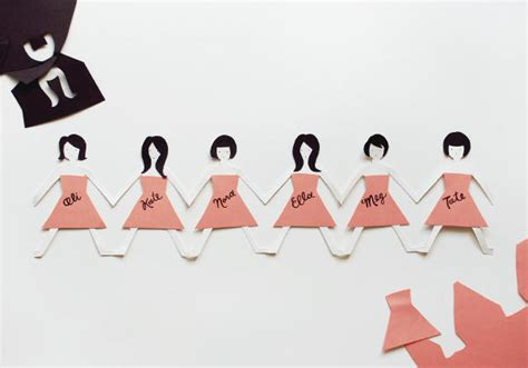 How Do You Make A Paper Doll Chain - diy bridesmaids cards once wed