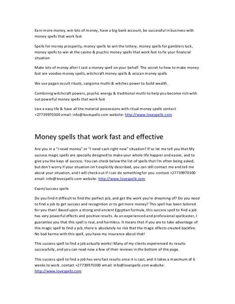 How To Win Lots Of Money Fast - spell to break a streak of bad luck 27739970300 anwar sadat