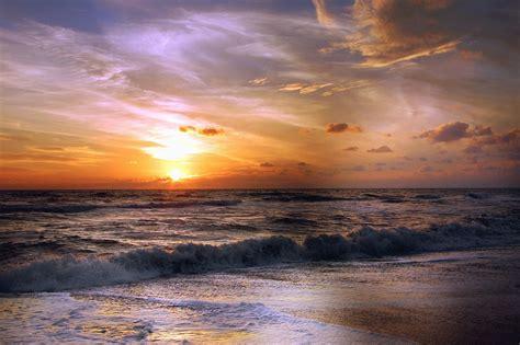 picture wave sea sun cloud sky beach sand horizon