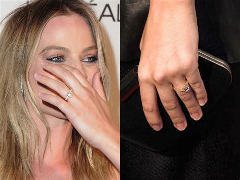 margot robbie ring margot robbie debuts her wedding ring on the red carpet